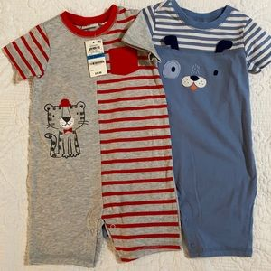 First Impressions set of 2 boys sunsuits outfits